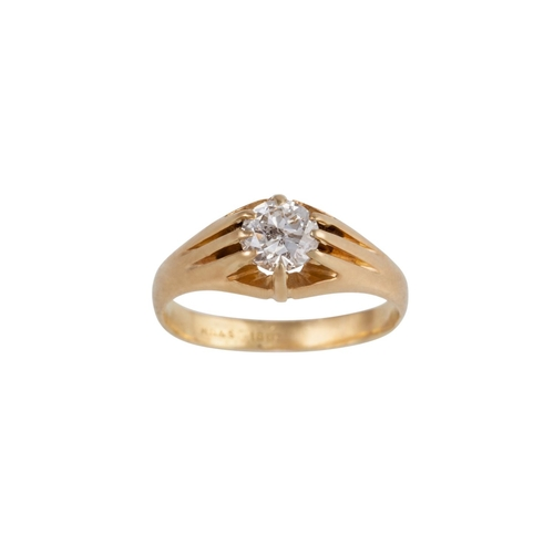 43 - A SOLITAIRE DIAMOND RING, of approx. 0.94ct, mounted in 18ct yellow gold...