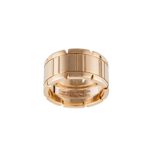 47 - AN 18CT YELLOW GOLD CARTIER RING, 14.1gms, size O/P...