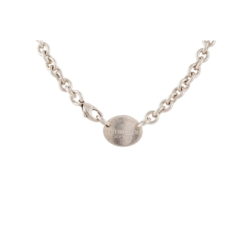 30 - A SILVER NECKLACE, stamped...