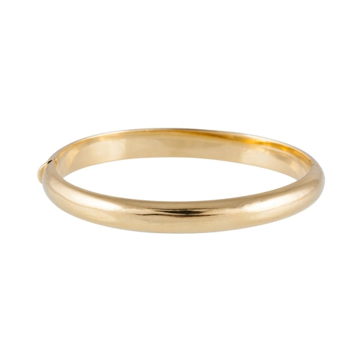 116 - 18CT GOLD BANGLE, of plain form, 17.5 grams...