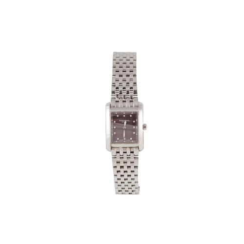 126 - A LADY'S STAINLESS STEEL RAYMOND WEIL WRIST WATCH, diamond dot numerals, boxed...