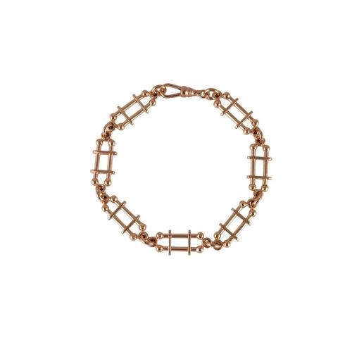 236 - A 9CT ROSE GOLD BRACELET, 17.8 g...