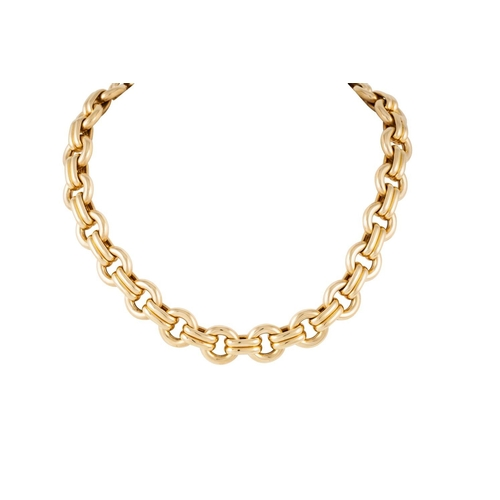 388 - AN 18CT YELLOW GOLD ROUND LINK NECKLACE, weight 86.4 grams....