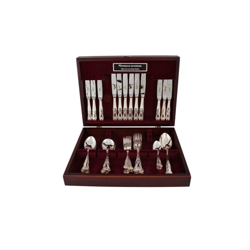 577 - A CASED MODERN NEWBRIDGE  ''THE COLLECTION SUITE'' kings pattern silver plated cutlery...