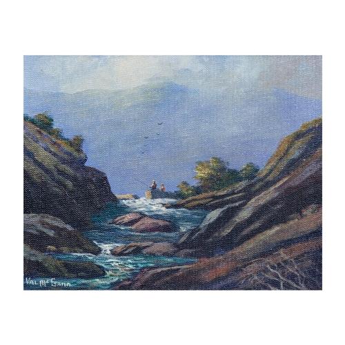 578 - VAL Mc GANN (Irish 20th Century) ''Mountain Stream, Co Wicklow'', oil on board, 10 x 8''...