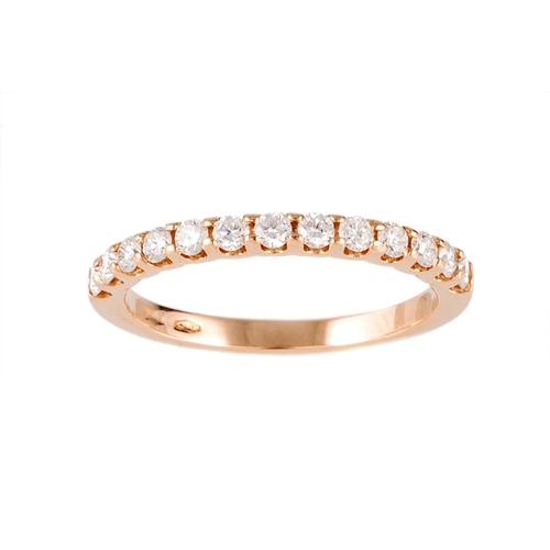 59 - A DIAMOND HALF ETERNITY RING, the brilliant cut diamonds mounted in 18ct gold. Estimated; weight of ...