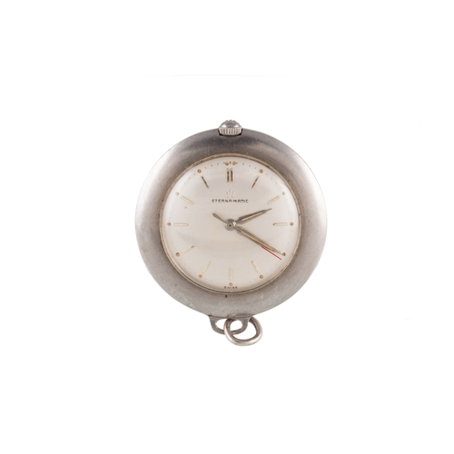 334 - A 14CT GOLD CASED FULL HUNTER FOB WATCH, (not working), together with steel Eterna nurses fob, (work...