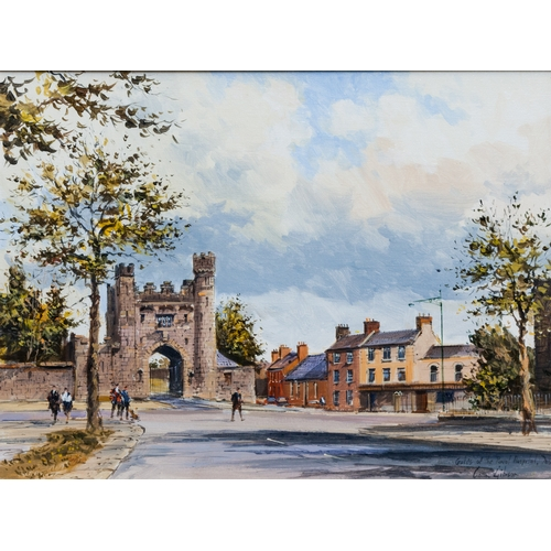 579 - COLIN GIBSON (Irish 20th Century) ''Gate of the Royal Hospital Dublin'', oil on board, 16 x 12'', Ca...