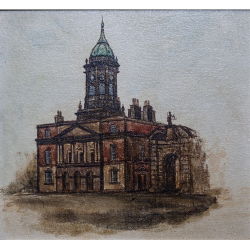 611 - TOM KUS (Irish 20th century) A Collection of five views of prominent Dublin city landmarks: ''The Ro...