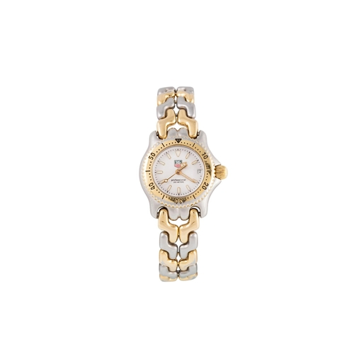 18 - A LADY'S TAG HEUER BI METAL WRIST WATCH, Professional model, white dial bracelet strap, boxed...