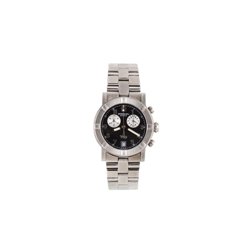 14 - A GENT'S STAINLESS STEEL RAYMOND WEIL WRIST WATCH, multi dial, date, bracelet strap, boxed...