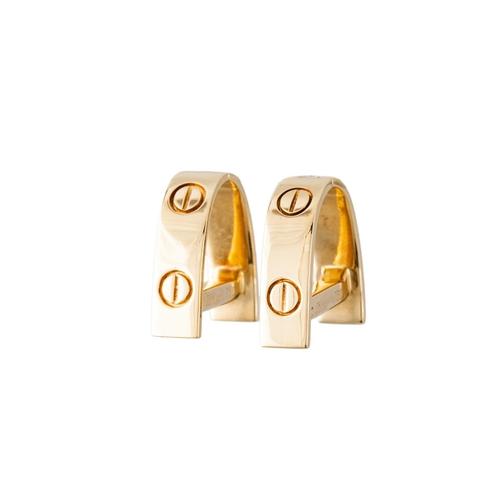 44 - A PAIR OF CARTIER 'LOVE' CUFFLINKS, signed Cartier, 750 for 18ct gold...