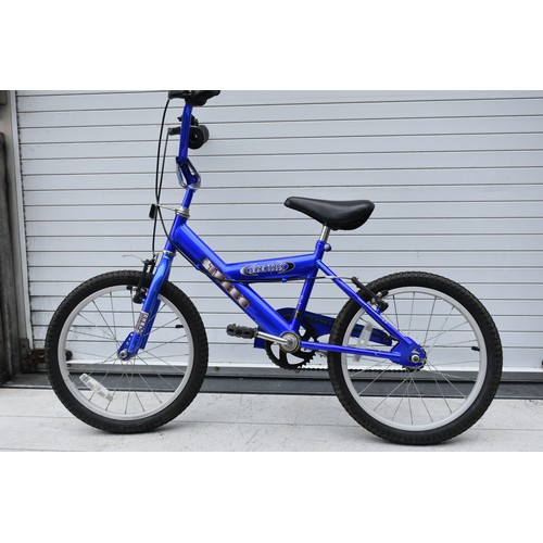 4 - CHILDS BLUE EURO TREK BIKE...