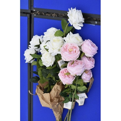 5 - 2 BUNCH OF PINK AND WHITE ROSEs...