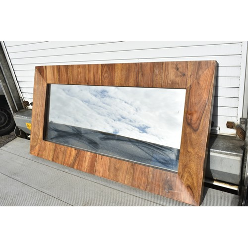 8 - MEXICAN PINE FRAMED MIRROR...