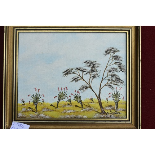 15 - PAIR OF SMALL SIGNED OIL PAINTINGS...