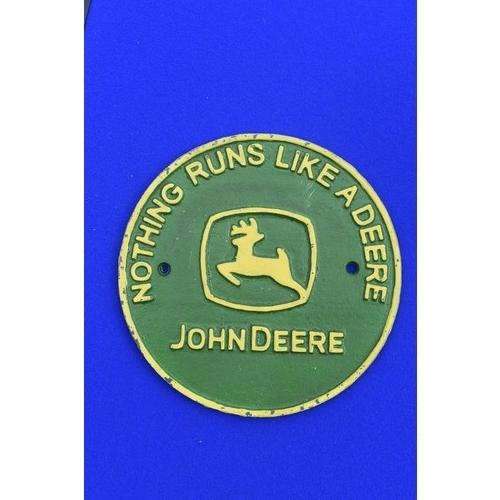 32 - JOHN DEERE CAST SIGN...
