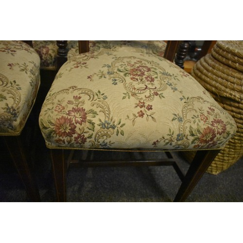 17 - 6 INLAID VICTORIAN CHAIRS...