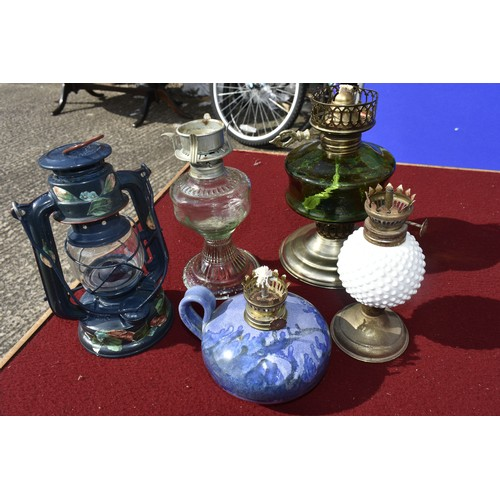 26 - COLLECTION OF OIL LAMPS...
