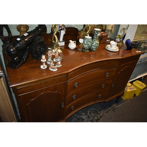 53 - LARGE CLAW & BALL SIDEBOARD WITH A GALLERY BACK &IN EXCELLENT CONDITION...