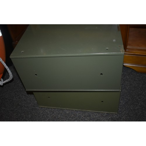 36a - 2 metal index cabinets...