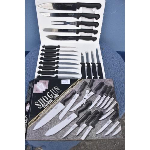 60 - A NEW SHOGUN KNIFE SET