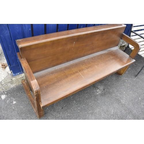 63 - HOMEMADE MAHOGANY SEAT