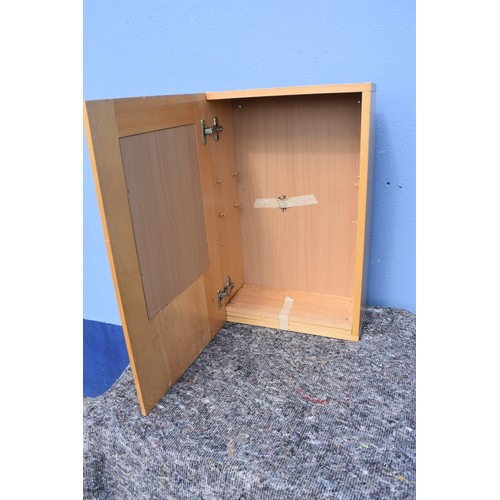 101 - BEECH KITCHEN CABINET
