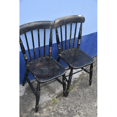 109 - A PAIR OF PINE STICKBACK CHAIRS