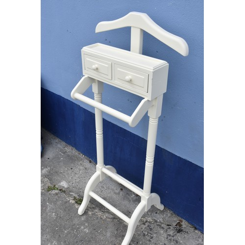 142 - A CREAM VALET STAND