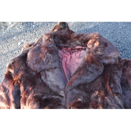 169 - A MINK STOAL AND JACKET