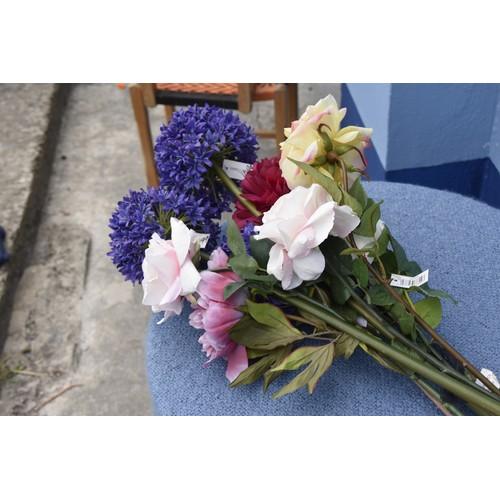 45 - A QTY OF ORNAMENTAL FLOWERS