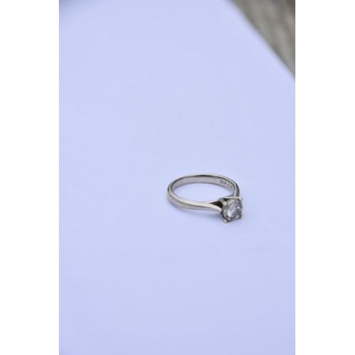 255 - 9ct WHITE GOLD DIAMOND SOLITAIRE RING (0.25ct)
