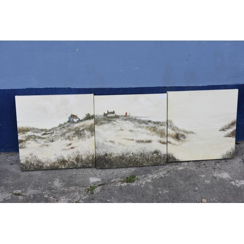 328 - A SET OF 3 CANVAS TO FORM 1 PAINTING