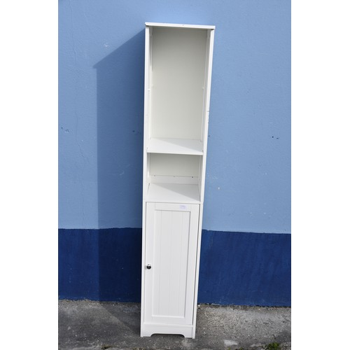 339 - WHITE TALL BATHROOM CABINET