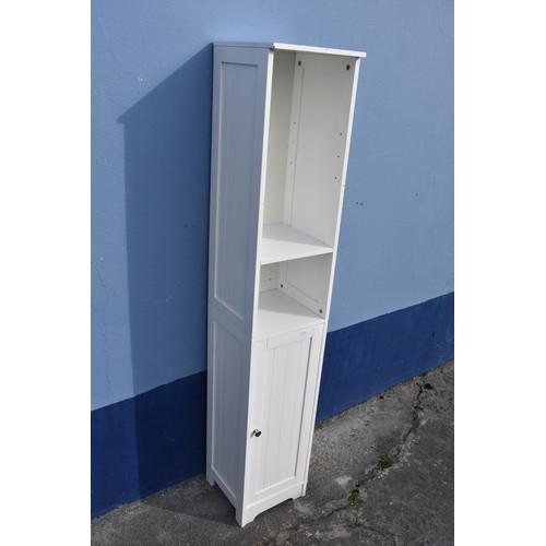 339 - WHITE TALL BATHROOM CABINET