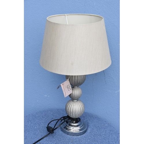 299 - NEW SILVER TABLE LAMP