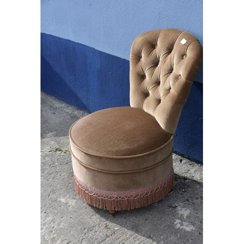 325 - BUTTON BACK BEDROOM CHAIR