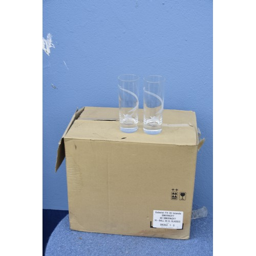 364 - 32 TALL SMIRNOFF GLASS
