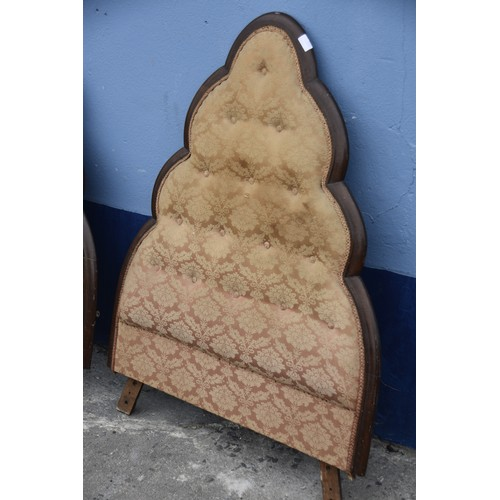 373 - A PAIR OF MATCHING 3ft ANTIQUE HEADBOARDS
