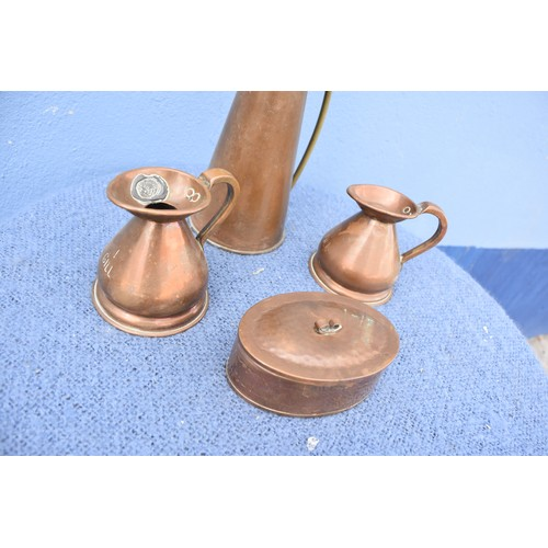 423 - LOT OF COPPERWARE