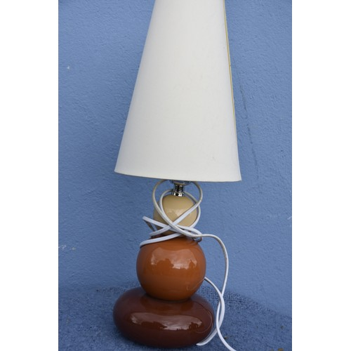 435 - PEBBLE LAMP WITH SHADE