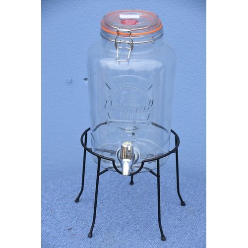 476 - A 5 LITRE KILNER JAR IN STAND