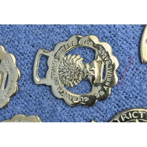496 - 9 VINTAGE HORSE BRASS