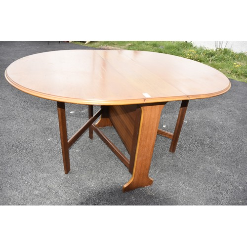 511 - A RETRO NARROW DROP LEAF DINING TABLE WHEN CLOSED A WIDTH OF10