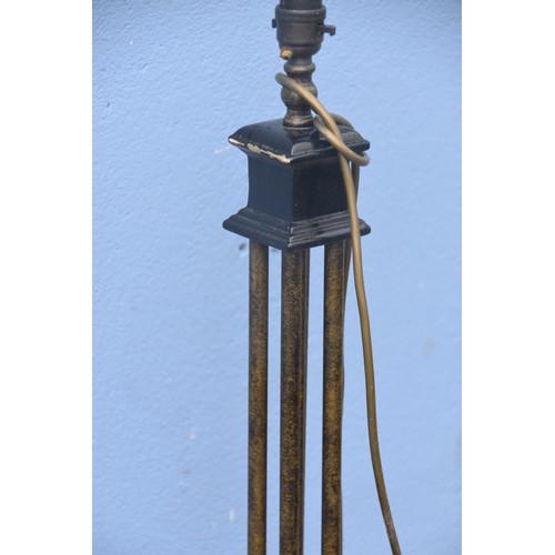 541 - A PILLARED STANDARD LAMP