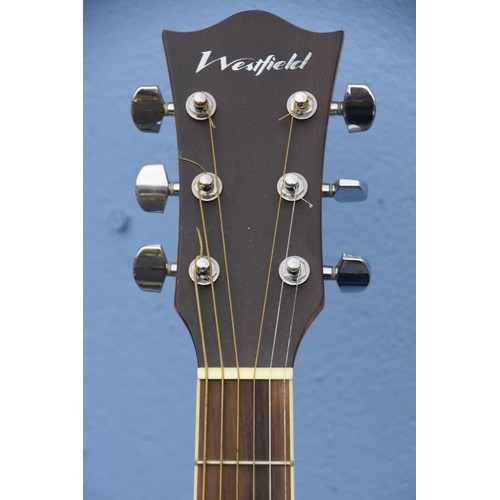 542 - A WESTFIELD ELECTRIC ACOUSTIC GUITAR AND STAND