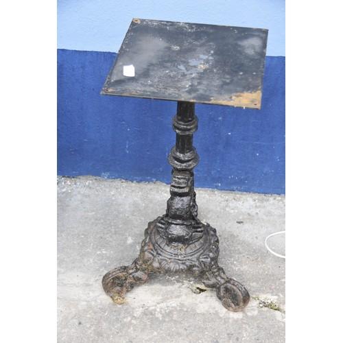 544 - AN ORNATE CAST PUB TABLE BASE 26.75