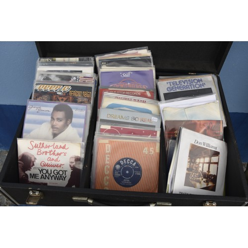 573 - DJ BOX 1960s COMPLETE WITH 150 SINGLES FROM PUNK THRU