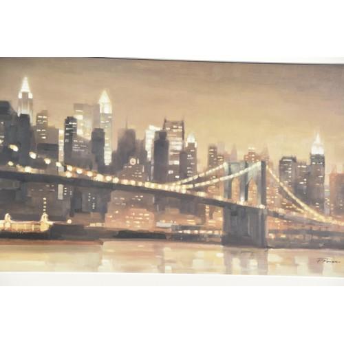 590 - LARGE MODERN PRINT OF NEW YORK
